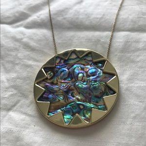House of Harlow Abalone Sunburst Pendant Necklace